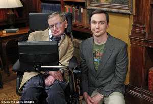 World famous physicist Stephen Hawking performs Big Bang Theory theme ...