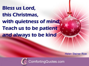Religious Christmas Quote by Helen Steiner Rice
