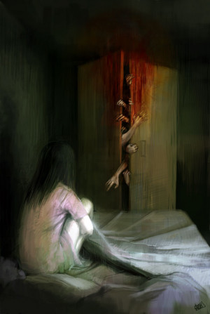 horror fear digital art night terrors NYCTOPHOBIA ani-r achluophobia ...