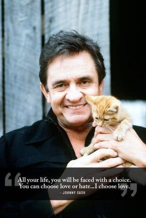 Wise words from Johnny Cash