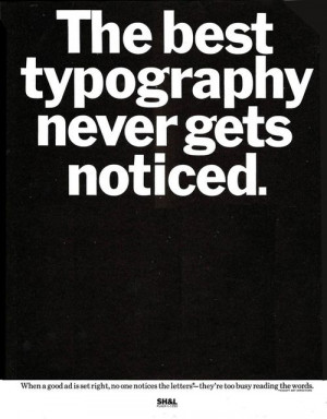 Herb Lubalin, trade ad, 1970s. Via Past Print. When a good ad is set ...