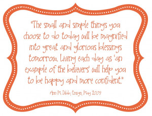 This morning I read this quote via Daily Gems. It immediately brought ...