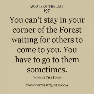 Winnie The pooh quotes, Friendship Quote of The day
