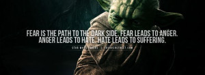 ... with a Yoda Fear Quote Facebook cover found only on FB Cover Street