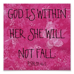 God is within her, she will not fall -Psalm 46:5. Pink butterfly ...