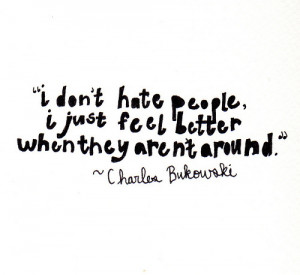 introvert #happy alone #charles bukowski #alone together #happy