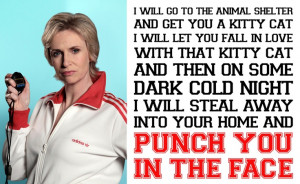 The one, the only - Sue Sylvester. Her best quote of all time.