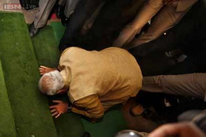 During his acceptance speech, 63-year-old Narendra Modi broke down in ...