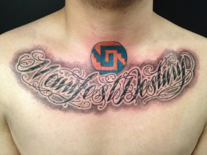 Mamfe Destiny Chest Script Tattoo