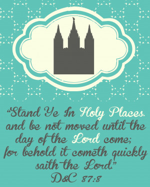 Stand Ye In Holy Places Printable! Youth Theme For 2013