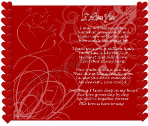 love you forever poems for him
