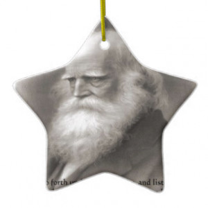 William Cullen Bryant & Nature Quote Christmas Ornament