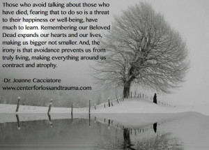 ... friend or colleague who has suffered the loss of family member