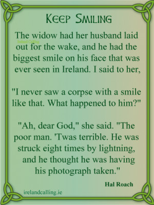 Hal Roach Keep smiling Image copyright Ireland Calling
