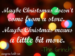 Maybe says the Grinch
