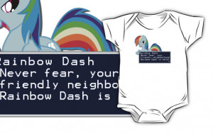 Casteal › Portfolio › My Little Pony Rainbow Dash Quote Shirt