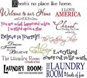 Laundry room sayings to make with cricut and vinyl. Put the 'hangers ...