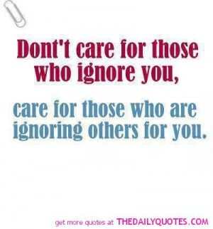 Don't Care For Those.....