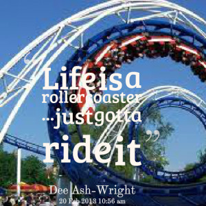 life is a rollercoaster ready for the ride cover