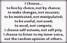 We all have a choice....