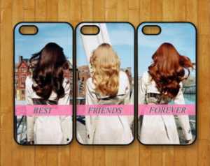 iphone 5S case,3pcs,Best Friends forever,brunette,blonde,iphone 5 case ...