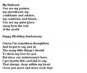 Love quotes anniversary for husband