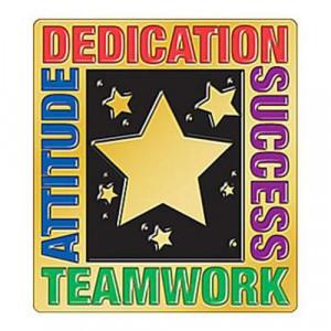 Attitude Dedication Success Teamwork Lapel Pin With Presentation Card