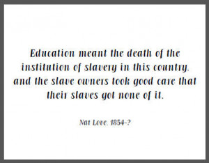 the death of the institution of slavery in this country, and the slave ...