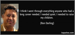 Ron Darling Quote