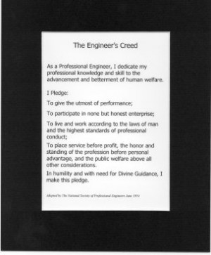 the engineer#39;s creed