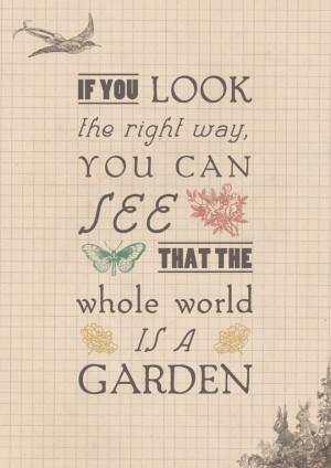From 'The Secret Garden' by Frances Hodgson Burnett