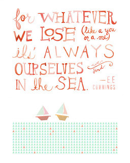 Etsy print of e.e. cummings quote :