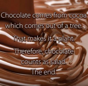 Chocolate is a vegetable!