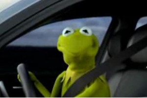 Kermit The Frog Meme Driving Pissed Off Frog Quotes...