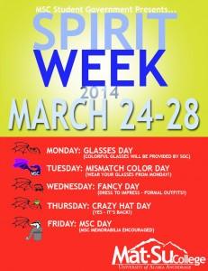 Spirit Week Theme Days