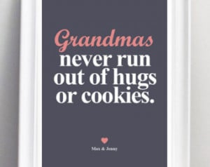 Grandparents Personalized Quotes Na me Print. Large size A2. ...