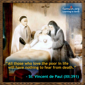 ... feast of Vincent … and a plug for the Society of St. Vincent dePaul