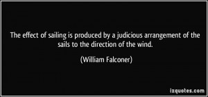 The effect of sailing is produced by a judicious arrangement of the ...