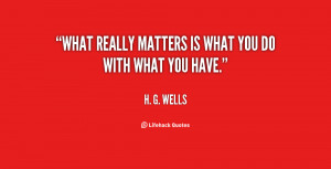 what matters in life quotes