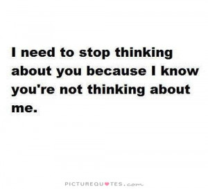 Not Thinking About You Quotes