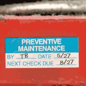 ... Decals > Maintenance & Service Labels > Preventive Maintenance Labels