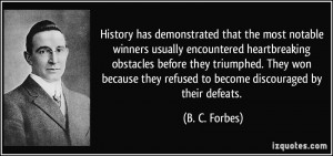 More B. C. Forbes Quotes