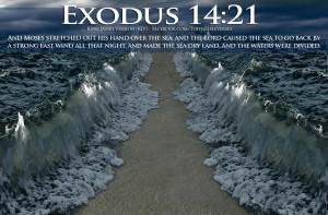 Bible Verses Power Exodus 14:21 Sea Parting Wallpaper | TOHH Bible ...