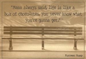 Mama always said, life is like a box of chocolates... ~ unknown