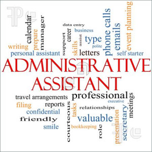 Administrative Assistant Word Cloud Concept with great terms such as ...