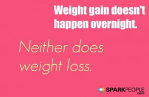 Motivational Quote - Weight gain doesn't happen overnight. Neither ...