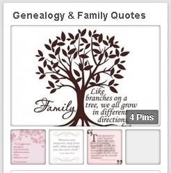 "... of GenealogyBank's ""Genealogy & Family Quotes"" Pinterest board"