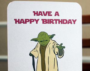 Yoda Birthday Quotes Star wars printable birthday