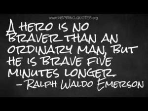 Inspiring Quotes: Ralph Waldo Emerson on Bravery | PopScreen
