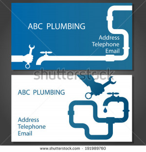 Plumbing Services Sign Vector